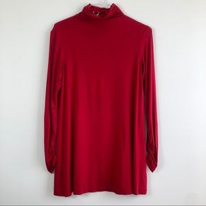 Sophie Max Red Turtleneck Tunic
